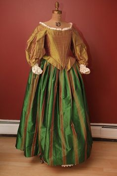 Silk taffeta Cavalier dress, love these colors!