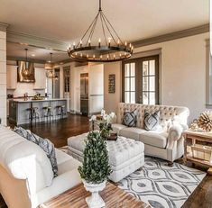 42 best farmhouse living room decor ideas and designs 10 Rugs In Living Room, Home And Living, Living Room Designs, Living Spaces, Living Area, Small Living, Modern Living, Condo Living, Kitchen Living