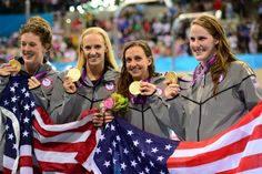 Olympic gold: The United States has won the Olympics, and we have the girls, including champion swimmers, pictured, to thank