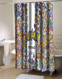Pokemon all Shower curtain