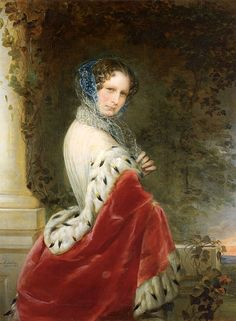 """Portrait of Empress Alexandra Fyodorovna (Charlotte of Prussia), wife of Emperor Nicholas I (1798-1860)"", 1852, by Christina Robertson (Scottish, 1796-1854)"