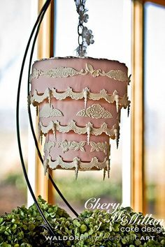 "BG brides, not since The Royal Wedding has a celebrity's wedding cake received as much fanfare as Kaley Cuoco's! And with good reason — The Butter End Cakery fulfilled the Big Bang Theory star's wish for something ""over the top"" with their upside-down chandelier cake"