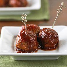 meatballs on cute skewers