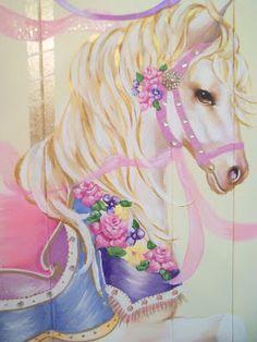 Athena at Carousel Cottage Carosel Horse, Carousel Party, Painted Pony, Horse Art, Beautiful Horses, Pretty Horses, Aurora Sleeping Beauty, Babyshower, Merry