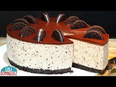 TARTA DE QUESO CON GALLETAS OREO (OREO CHEESECAKE). TARTA SIN HORNO. Loli Domínguez. Recetas. - YouTube Oreo Cake, Oreo Cheesecake, Chess Cake, Mexican Food Recipes, Ethnic Recipes, No Bake Pies, Amazing Cakes, Cake Decorating, Deserts