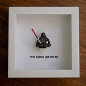 Art frame feature one LEGO® Star Wars® minifigures, Darth Vader with the famous quote: 'Your Destiny Lies With Me' beneath. Lego Display, Lego Minifigure Display, Star Wars Kunst, Star Wars Art, Lego Star Wars, Star Wars Room Decor, Star Wars Bedroom, Cadre Star Wars, Lego Darth Vader
