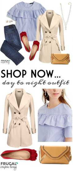 Inspiration look Day to night : Frugal Fashion Friday Day to Night Outfit on Frugal Coupon Living. Tackle the da