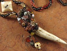 Elk Antler Necklace - Skulls by Stick Lizard Designs, via Flickr