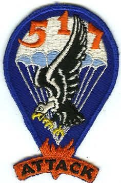 WWII 517th Parachute Infantry Pocket Insignia