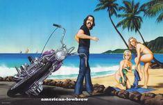 Harley Davidson Photos, Harley Davidson Wallpaper, Harley Davidson Dyna, Motorcycle Art, Bike Art, Ed Roth Art, Biker Photoshoot, David Mann Art, Pin Up Girl Vintage