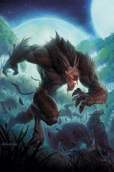 """""""Curse of the Worgen"""" by John Polidora http://polidorusrex.blogspot.com/"""