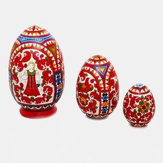 Яйцо 3-х местное Борецкая роспись