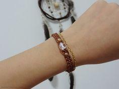 Papoulas douradas: DIY: Bracelete de Cordão