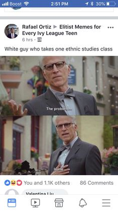 Il Boost 1 Rafael Ortiz Elitist Memes for . Every Ivy League Teen 6 hrs. White guy who takes one ethnic studies class The problem. 0 0 You and others 86 Valentina Linn Memes Humor, Funny Memes, Jokes, A Funny, Hilarious, Funny Stuff, Funny Meme Pictures, All The Things Meme, Work Memes