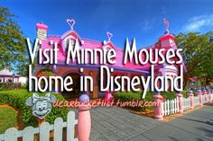 Visit Minnie Mouse's home in Disneyland