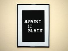 "°˖✧ Happy BDay Mick Jagger! - ""Paint It Black"" Gift Ideas Here ✧˖° от Lufu Design by Yoshi на Etsy"