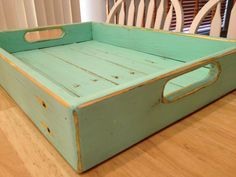 Light Green Breakfast / Serving Tray from by CrateandPallet, $40.00