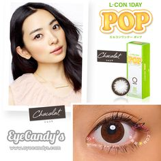 L-Con 1 Day POP Chocolat Circle Lenses Colored Contacts Cosmetic Color Circle Lens Big Eye Contacts, Best Colored Contacts, Prescription Colored Contacts, Prescription Lenses, Color Contacts, Black Contact Lenses, Cosmetic Contact Lenses, Kylie Jenner Blue Eyes, Halloween Contacts