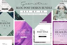 Geometric Blog Template Bundle by Coral Antler Creative on @creativemarket