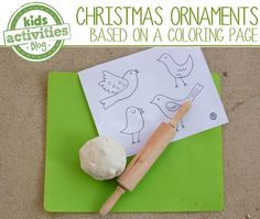 {Sweet} Bird Christmas ornaments - you can make based on a coloring page