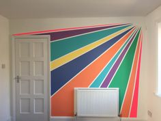 Starburst rainbow wall mural