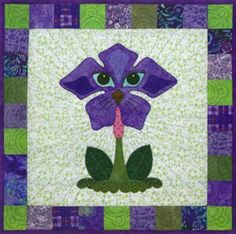 click here to view larger image of Bloomin Dogs Block 4 Periwinkle Pound Hound (PATTERNS)