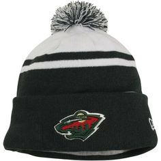 9bac02431a6 Mens Minnesota Wild New Era Green Team Hook Up Cuffed Knit Hat with Pom.  Minnesota WildKnitted HatsNhlHockeyKnit ...