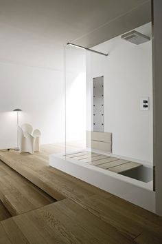 Baignoire douche encastrable / à poser / rectangulaire / en Corian® UNICO Rexa Design
