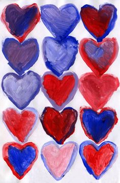 A color mixing project for Valentine's Day. PDF Heart template included. #valentine #artprojects #artprojectsforkids