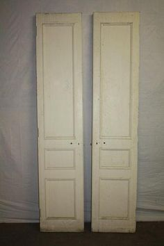 Antique Interior Double Door Set with 3 Panels and Distressed Mirrored Glass | eBay