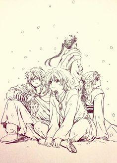 Gu-En, Zeno, Abi, Shu-Ten   Akatsuki no Yona