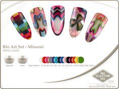 Missoni Art Set Bio Sculpture Nails, Sculpture Art, Usa Nails, Bio Art, Gel Color, Nail Art Galleries, Missoni, Image