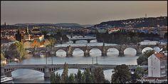 Vista de Praga desde Letenské sady (Praha - Czech Republic)
