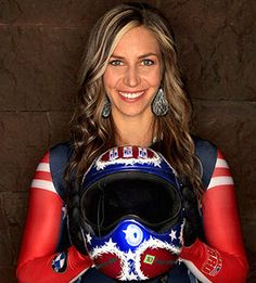 Olympians to watch this winter: Noelle Pikus-Pace. This chick was the first woman ever to win the Overall World Cup title in skeleton!