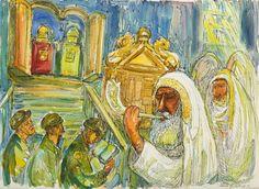 Chaim Goldberg - Święto żydowskie, 1971 r.