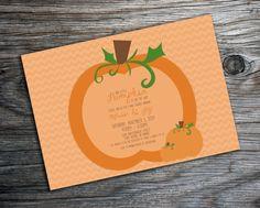 Fall Pumpkin Baby Shower Invitation by xxLVE on Etsy