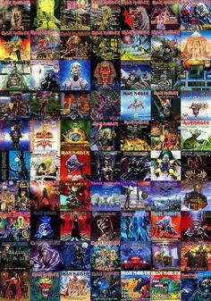 Iron Maiden Album Covers tons of iron maiden album artwork ~
