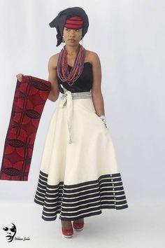 Modern Xhosa Design by Urban Zulu African Print Dresses, African Fashion Dresses, African Attire, African Wear, African Women, African Dress, African Clothes, South African Fashion, African Print Fashion
