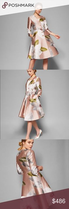 de1a32712 Ottis Chattsworth Bloom Dress Coat Ted s take on the feminine dress coat is  undeniably regal