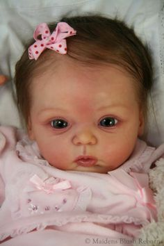 Reborn baby girl doll SOLD OUT Livia by Gudrun Legler with tummyplate