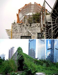 Look just beyond the 'official' architecture of Taipei, on the borders of the city and on top of skyscrapers, and you'll find a secret network of illegal architecture that attaches itself 'like a parasite' to create unsanctioned urban farms, night markets and other social gathering places.