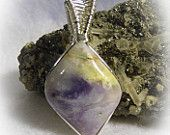 Mexican Opal Wire Wrapped Stone Pendant