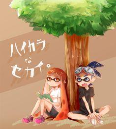 「ハイカラなセカイ【イカLOG】」/「まつり」の漫画 [pixiv] #Inkling