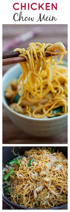 Chicken Chow Mein - Crazy DELICIOUS, EASY and takes only 20 mins to make for the entire family!!! | rasamalaysia.com