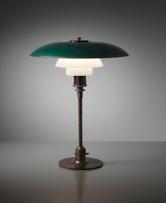 PHILLIPS : NY050214, Poul Henningsen, Early and rare table lamp, type 4/3 shades, 1927