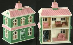 Vtg Russ The Holiday House Village Ornament Dollhouse Nostalgic Miniature Xmas