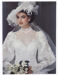 1983 Wedding gown, I LOVE the sleeves!!!