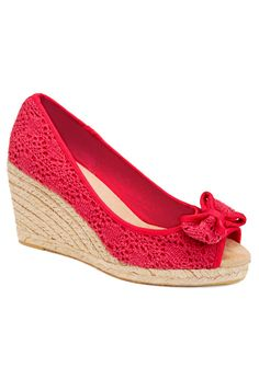 Plus Size Annie Crochet Wedge | Plus Size View All Shoes | Avenue