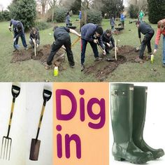 Gardens: All that digging, lifting & bending is good for your health & it's relaxing at the same time.