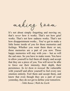 Motivational Quotes For Women Discover Making Room x 11 Print Making Room x 11 Print Nikki Banas Encouragement Quotes, Wisdom Quotes, Words Quotes, Wise Words, Sayings, Qoutes, Poetry Quotes, Soul Love Quotes, Great Quotes